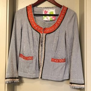 Free People lined crop jacket